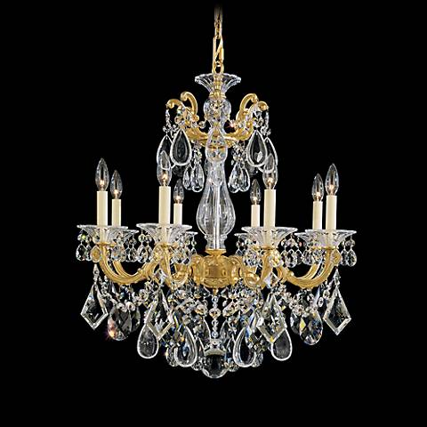 "Schonbek La Scala 25""W Spectra Crystal 8-Light Chandelier"