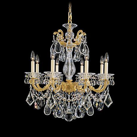 """Schonbek La Scala 25""""W Spectra Crystal 8-Light Chandelier"""