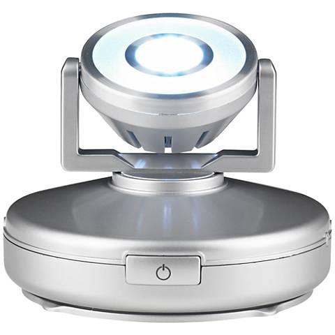 silver high output battery powered led spot light n4803 lamps plus. Black Bedroom Furniture Sets. Home Design Ideas