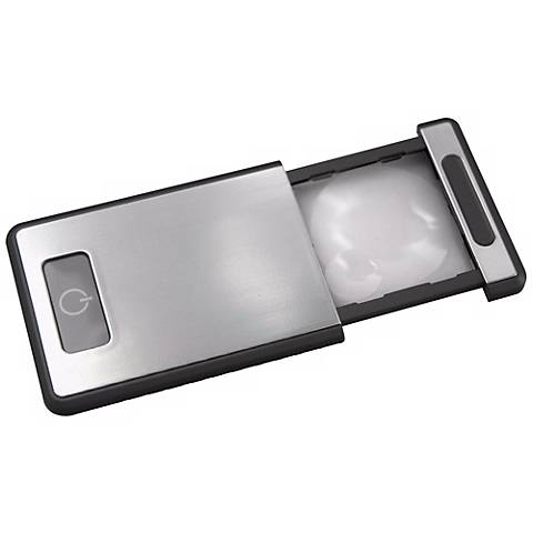 Silver Compact Magnifying LED Light