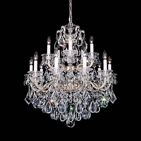 """Schonbek La Scala 28"""" Wide Spectra Crystal Chandelier"""