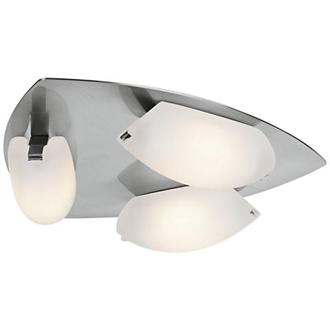 "Nido 14 1/4"" Wide Matte Chrome Frosted Glass Ceiling Light"