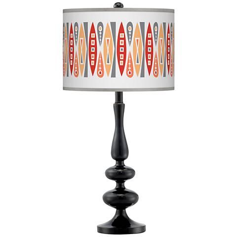 Vernaculis VI Giclee Paley Black Table Lamp