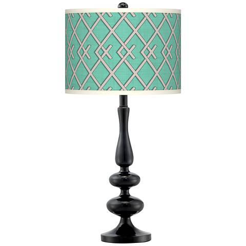 Crossings Giclee Paley Black Table Lamp
