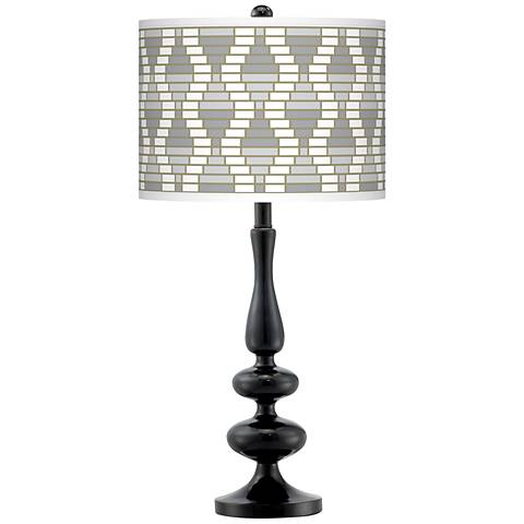 Stepping Out Giclee Paley Black Table Lamp