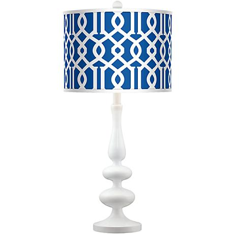 Chain Reaction Giclee Paley White Table Lamp