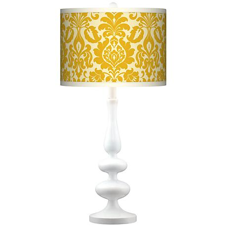Stacy Garcia Lemongrass Florence Paley White Table Lamp