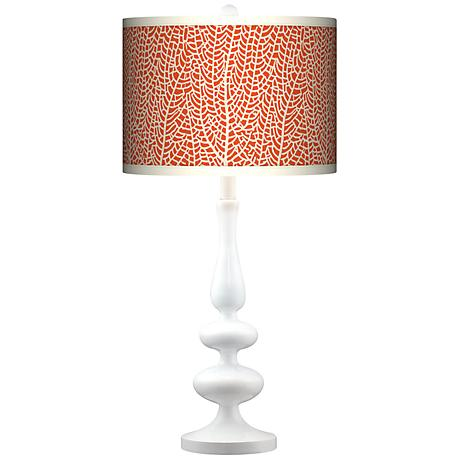 Stacy Garcia Seafan Coral Giclee Paley White Table Lamp