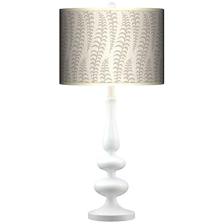 Stacy Garcia Fancy Fern Ice Giclee Paley White Table Lamp