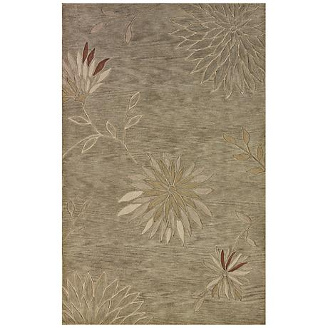 Franklin Collection Blooming Aloe Area Rug
