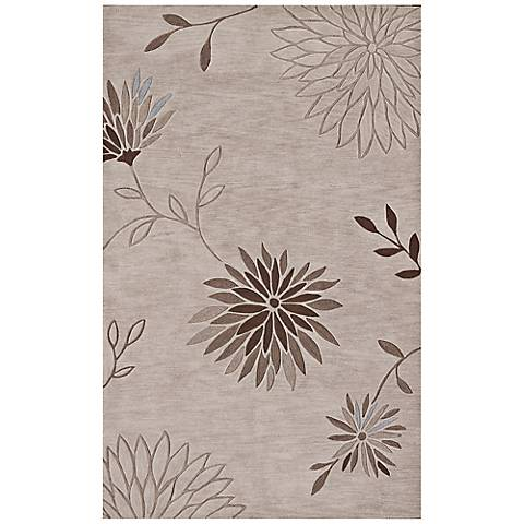Franklin Collection Blooming Linen Area Rug