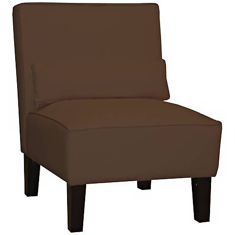 Chocolate Twill Armless Chair