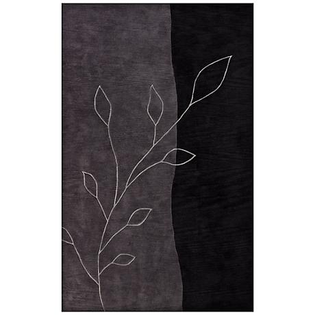 Laurel Black Area Rug