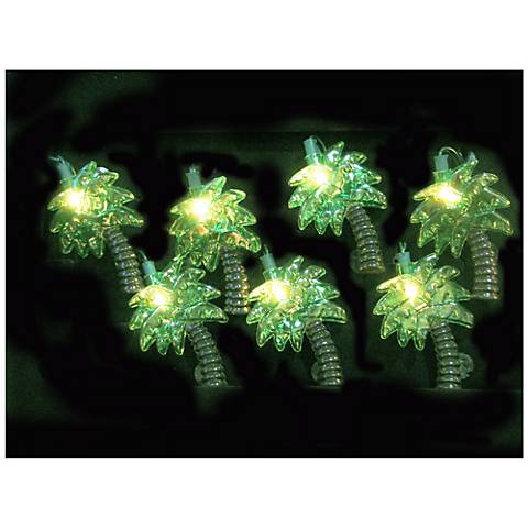 String Lights Lamps Plus : Palm Trees 10-Light String of Party Lights - #N6590 Lamps Plus
