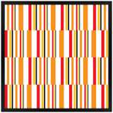 "Summer Stripes 26"" Square Black Giclee Wall Art"