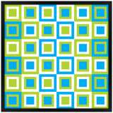 "Bouncing Boxes 26"" Square Black Giclee Wall Art"