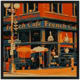 "Bistro 31"" Square Black Giclee Wall Art"