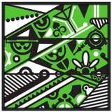 "Vibrance 37"" Square Black Giclee Wall Art"