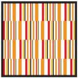 "Summer Stripes 37"" Square Black Giclee Wall Art"