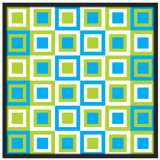 "Bouncing Boxes 37"" Square Black Giclee Wall Art"
