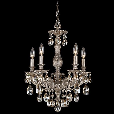 "Schonbek Milano Collection 16"" Wide Crystal Chandelier"