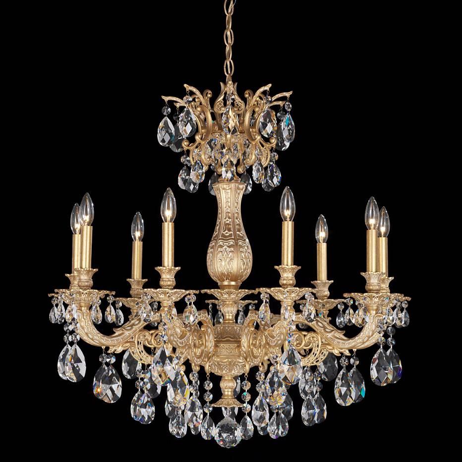Maria Theresa 30 Quot Wide Golden Teak Crystal Chandelier