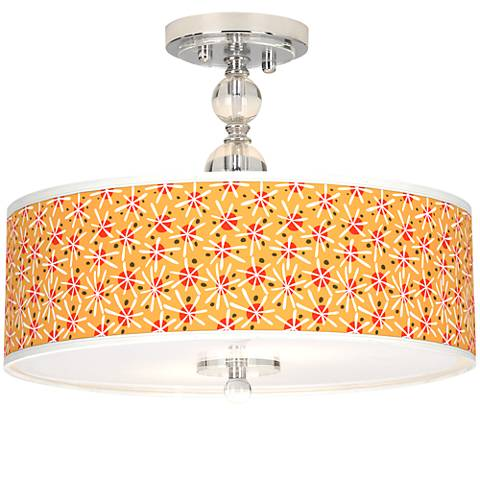 "Seastar Giclee 16"" Wide Semi-Flush Ceiling Light"