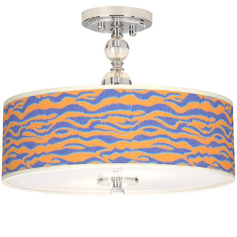 "Sunset Stripes Giclee 16"" Wide Semi-Flush Ceiling Light"