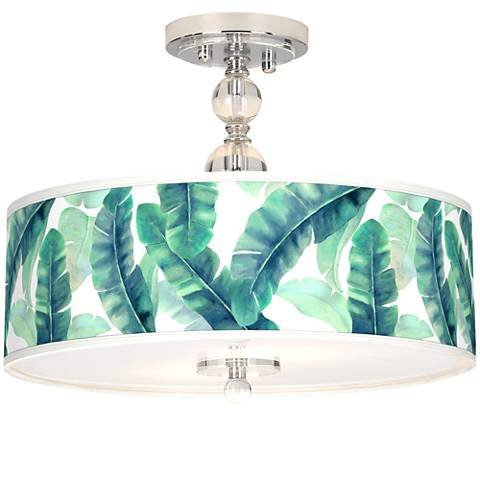 "Guinea Giclee 16"" Wide Semi-Flush Ceiling Light"