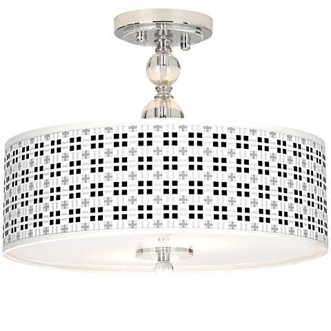 "Quadrant Giclee 16"" Wide Semi-Flush Ceiling Light"