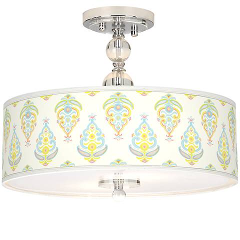 "Pastel Parade Giclee 16"" Wide Semi-Flush Ceiling Light"