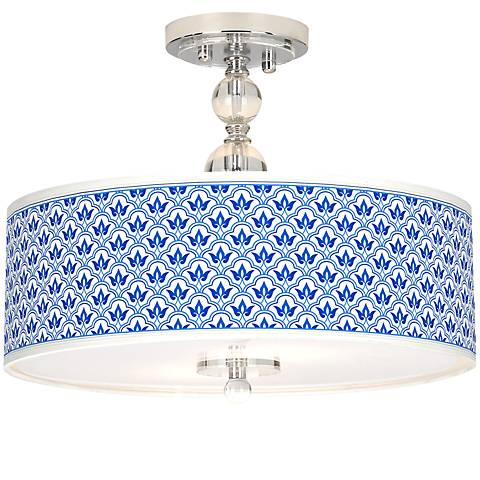 "Arabella Giclee 16"" Wide Semi-Flush Ceiling Light"