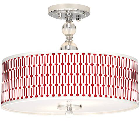 "Amaze Giclee 16"" Wide Semi-Flush Ceiling Light"