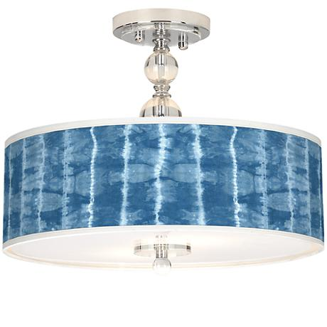 """Cool Reflections Giclee 16""""W Semi-Flush Ceiling Light"""
