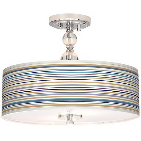 "Stacy Garcia Stripe 16"" Wide Semi-Flush Ceiling Light"