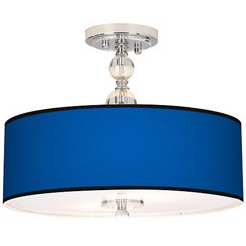 """All Blue Giclee 16"""" Wide Semi-Flush Ceiling Light"""