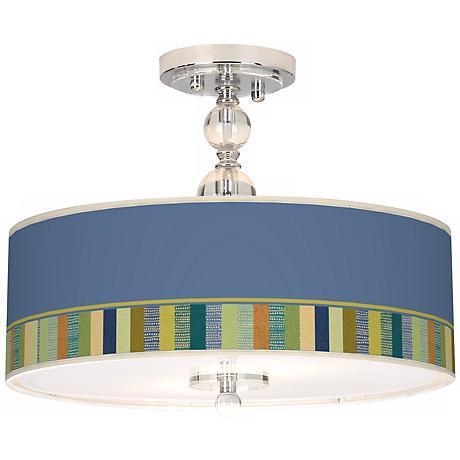 """Stacy Garcia Modern Palette 16"""" Semi-Flush Ceiling Light"""