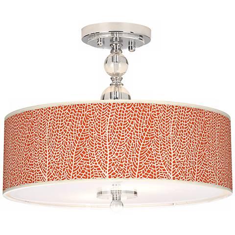 "Stacy Garcia Seafan Coral 16"" Wide Semi-Flush Ceiling Light"