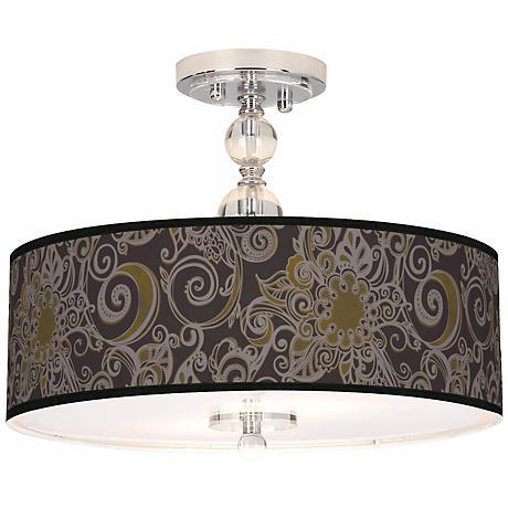 "Stacy Garcia Ornament Metal 16"" Semi-Flush Ceiling Light"