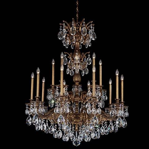 """Schonbek Milano 39"""" Wide Bronze Optic Crystal Chandelier"""