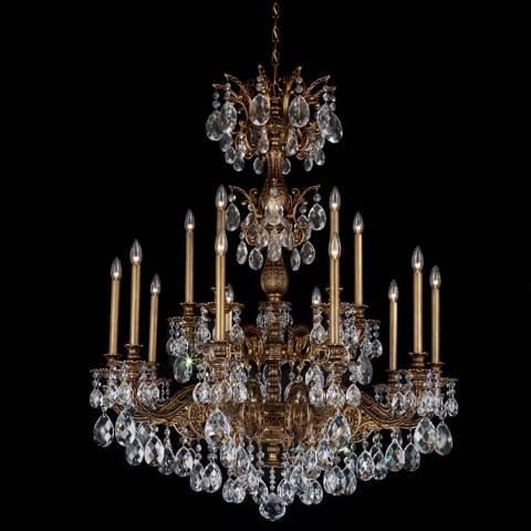 Schonbek Milano 39 Quot Wide Midnight Optic Crystal Chandelier