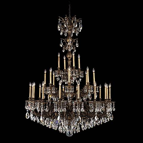 "Schonbek Milano 50"" Wide Midnight Optic Crystal Chandelier"