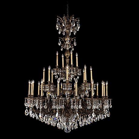"""Schonbek Milano 50"""" Wide Bronze Swarovski Crystal Chandelier"""
