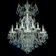 "New Orleans 32"" Wide Hand-Cut Crystal Chandelier in Gold"