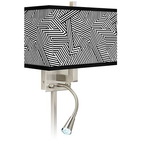 Labyrinth Giclee Glow LED Reading Light Plug-In Sconce