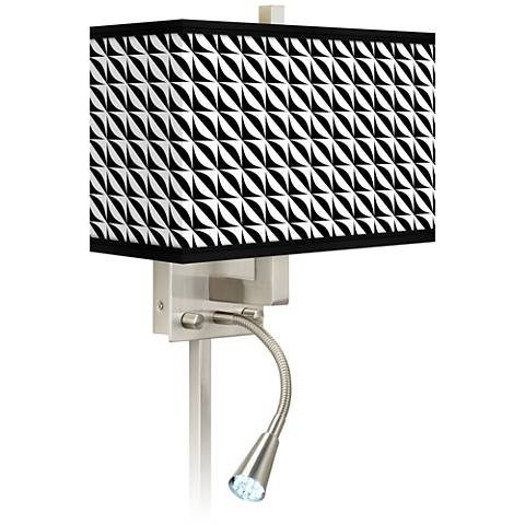 Led Wall Sconce Plug In : Waves Giclee Glow LED Reading Light Plug-In Sconce - #N8671-1H069 Lamps Plus
