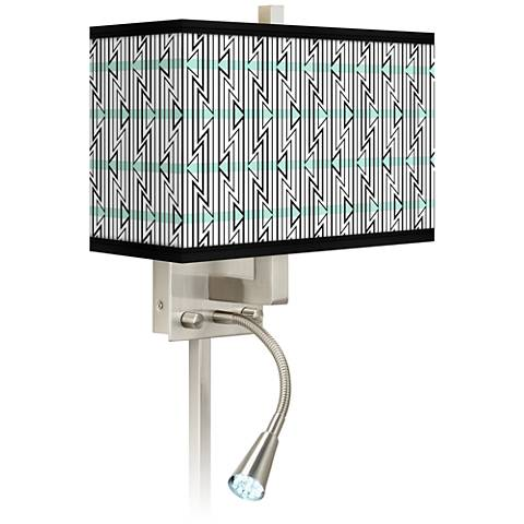 Indigenous Giclee Glow LED Reading Light Plug-In Sconce