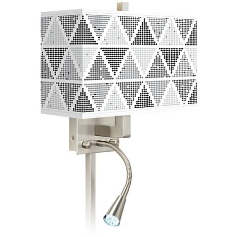 Pointillism Giclee Glow LED Reading Light Plug-In Sconce