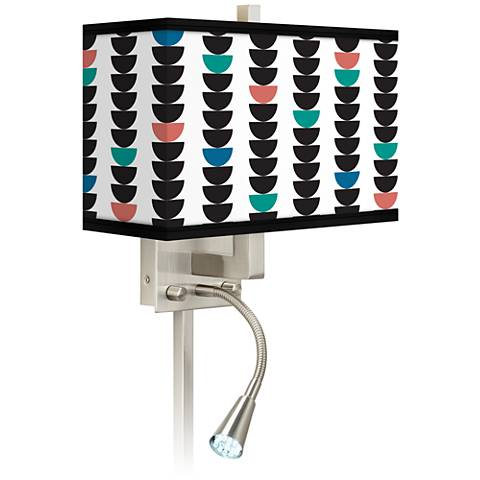 Semi-Dots Giclee Glow LED Reading Light Plug-In Sconce
