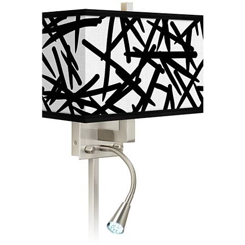 Sketchy Giclee Glow LED Reading Light Plug-In Sconce